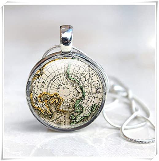 Amazon map necklace ancient world map globe necklace world map necklace ancient world map globe necklace world map green brown old gumiabroncs Image collections