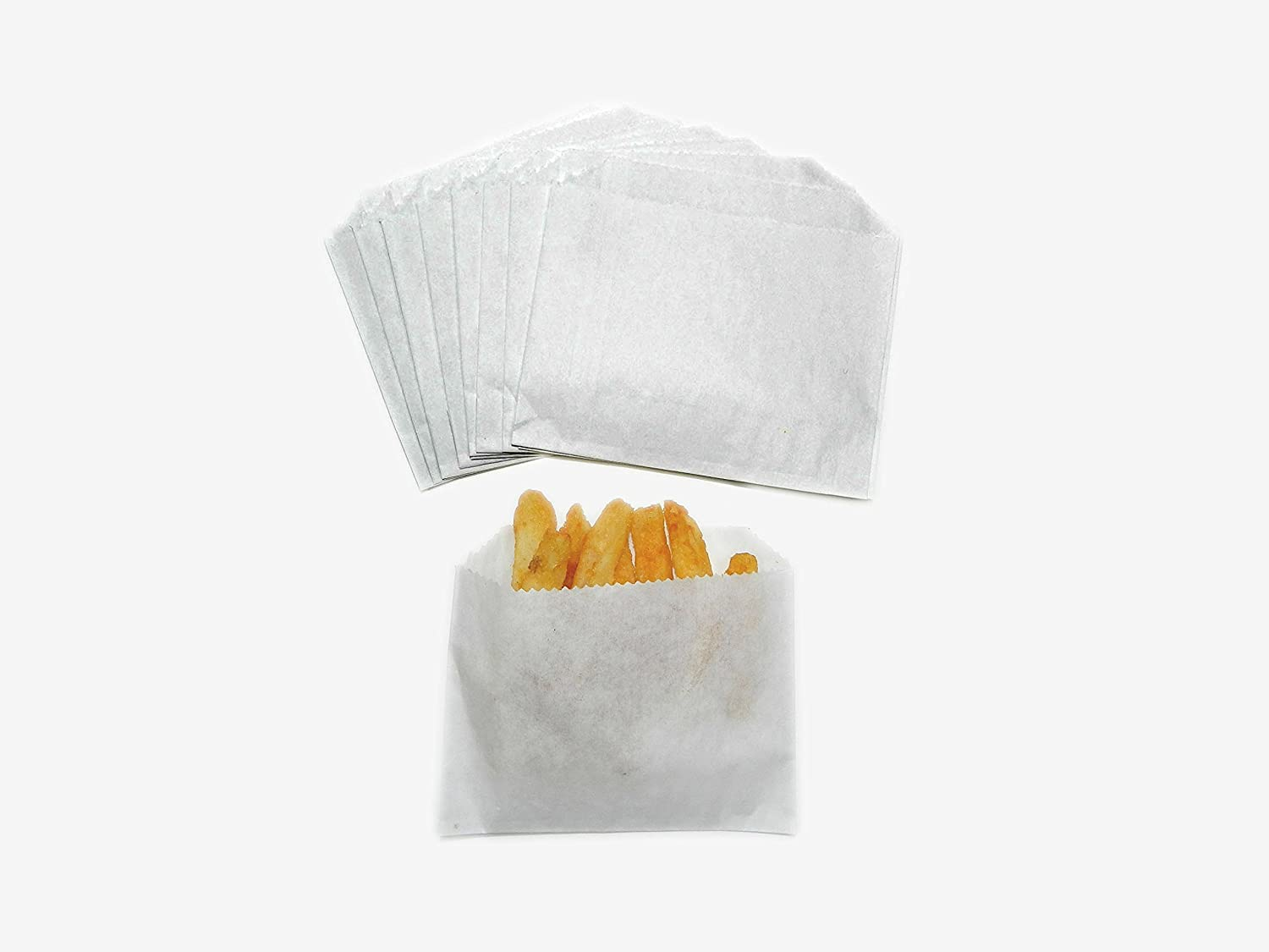 White Regency Wraps RW0062-50 50 Count French Fry Bags