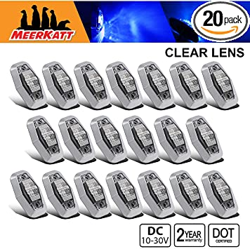 Meerkatt Pack of 10 2.5 Inch Clear Lens 5 Amber /& 5 Red LED Oval Fender Marker Light 2 Diodes Flush Mount Clearance Bulb Waterproof RV Truck Lorry Trailer ATV Pickup Bus SUV 12V 24V DC Sealed LM-CHS