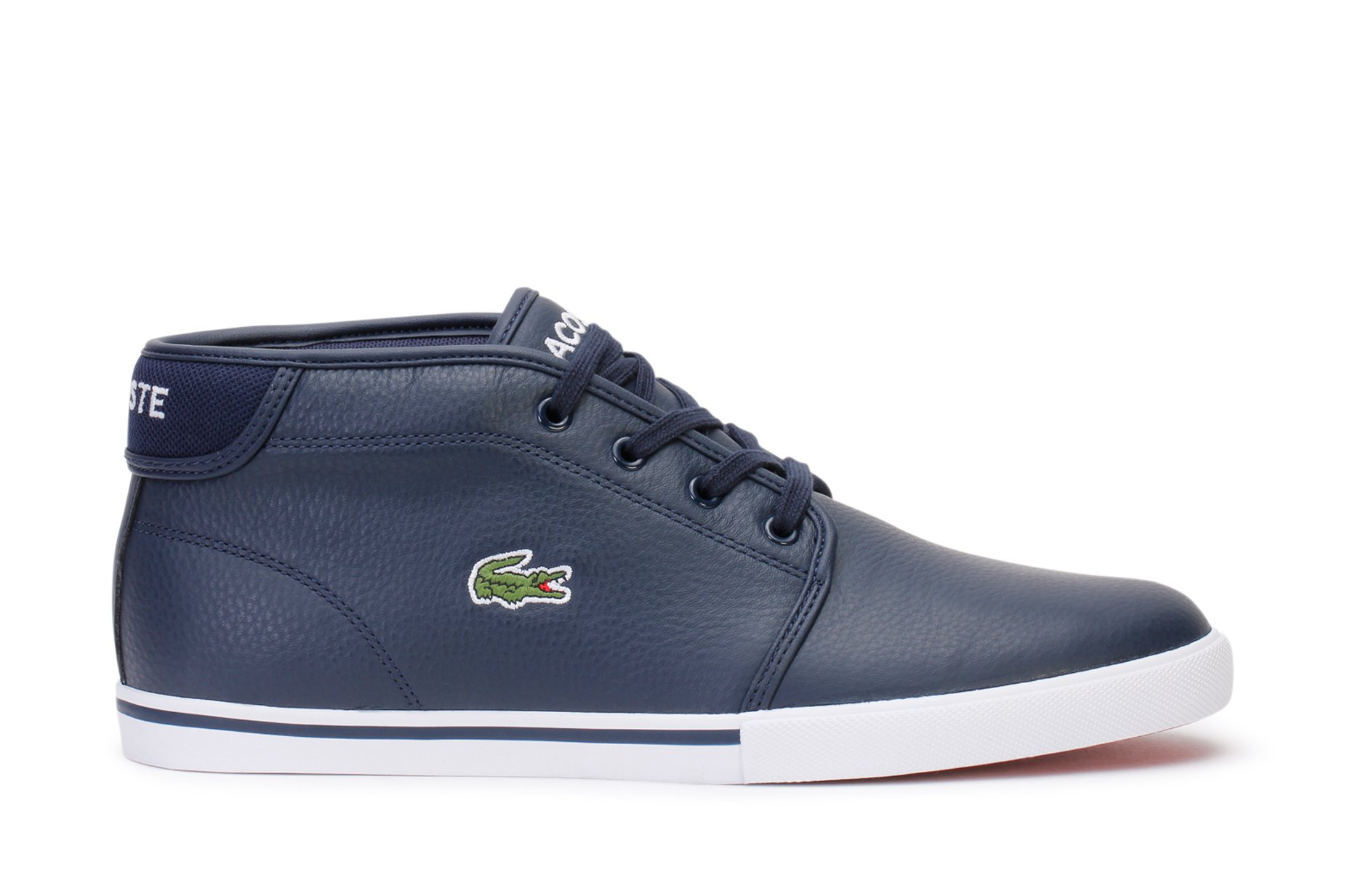 Lacoste Men's Ampthill Chukka Sneakers,NVY/White Leather,9 M US