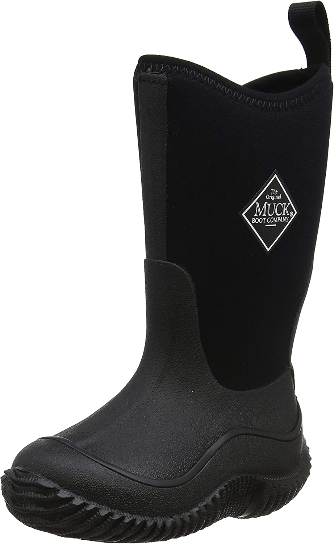 Muck Boots Hale Multi-Season Kids' Rubber Boot,Black/Black,1 M US Little Kid