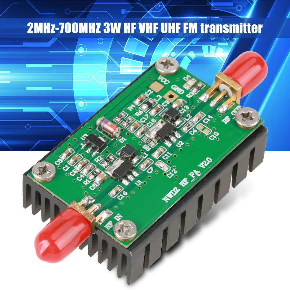 2MHz-700MHZ3W HF VHF UHF FM Transmisor RF Amplificador de Potencia para Radio.