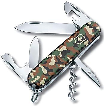 Victorinox Küchen-Offiziersmesser Camouflage mit Gross Blister Navaja, Azul