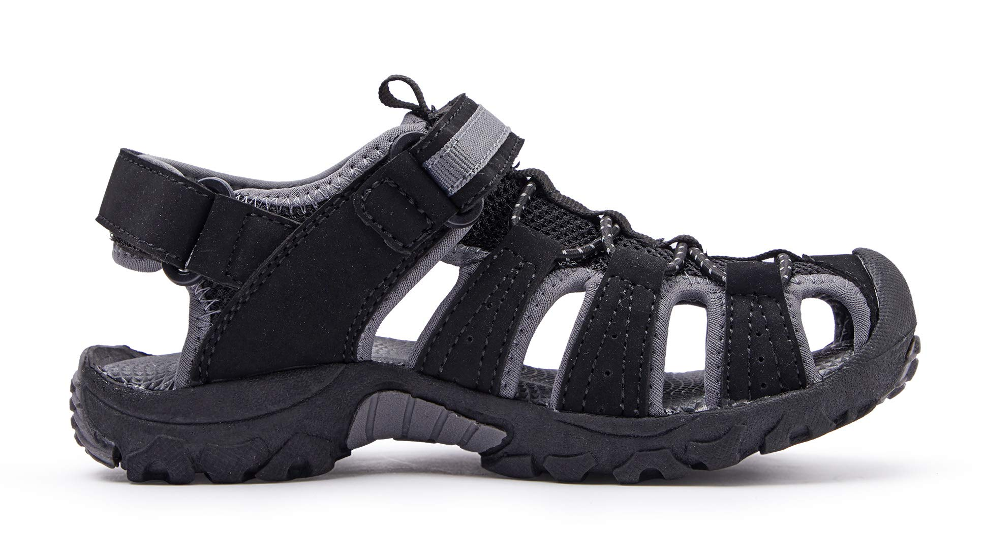 BMCiTYBM Girls Boys Hiking Sport Sandals Toddler Kid Closed Toe Water Shoes Black Size 3 by BMCiTYBM (Image #3)