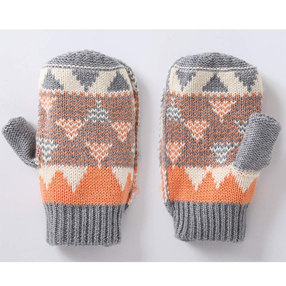 GESDY Toddler Full Finger Mittens Winter Warm Baby Boys Girls Knitted Gloves
