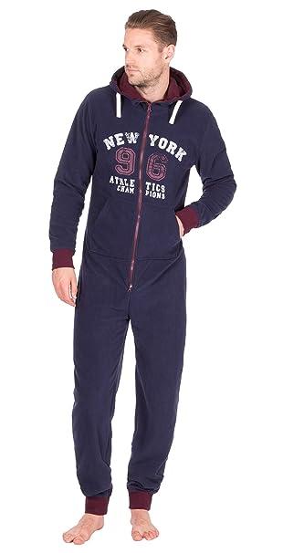 Hombre Estampado Mono Capucha Mono Todo En Uno Pieza Pijama Cómodo Con Insignia Calcetines: Amazon.es: Ropa y accesorios