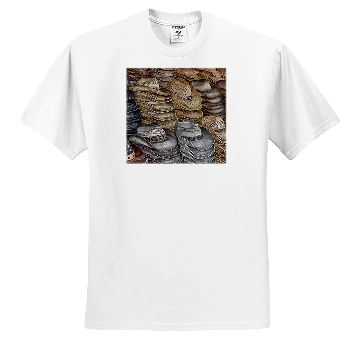 T-Shirts Stacks of Straw cowbody Western Hats 3dRose Susans Zoo Crew Scenery