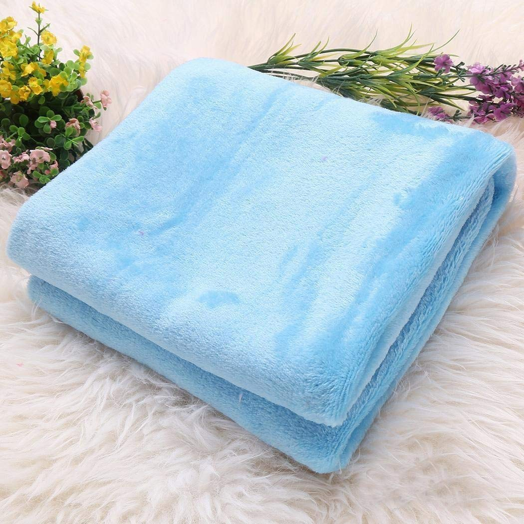 Pagacat Simple Soft and Comforable Office Air Conditioning Blanket Coral Blankets Blankets