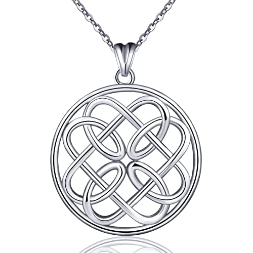 427e429d5df83 Amazon.com: 925 Sterling Silver Celtic Knot Irish Endless Love ...