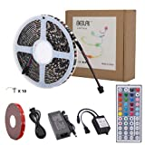 Amazon Price History for:RGB LED Strip Lights Kit,BEILAI RGB LED Light Strip Waterproof SMD 5050 DC 12V Flexible Neon Tape 16.4 Ft (5M) 300leds with 44key Controller for Christmas Kicthen Party Indoor and Outdoor decoration