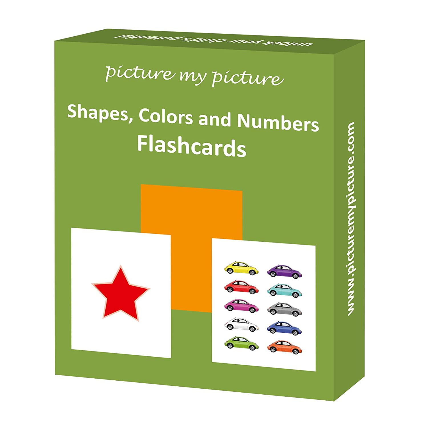 Amazon.com: Shapes Colors and Numbers: 40 Flash Cards: Toys & Games