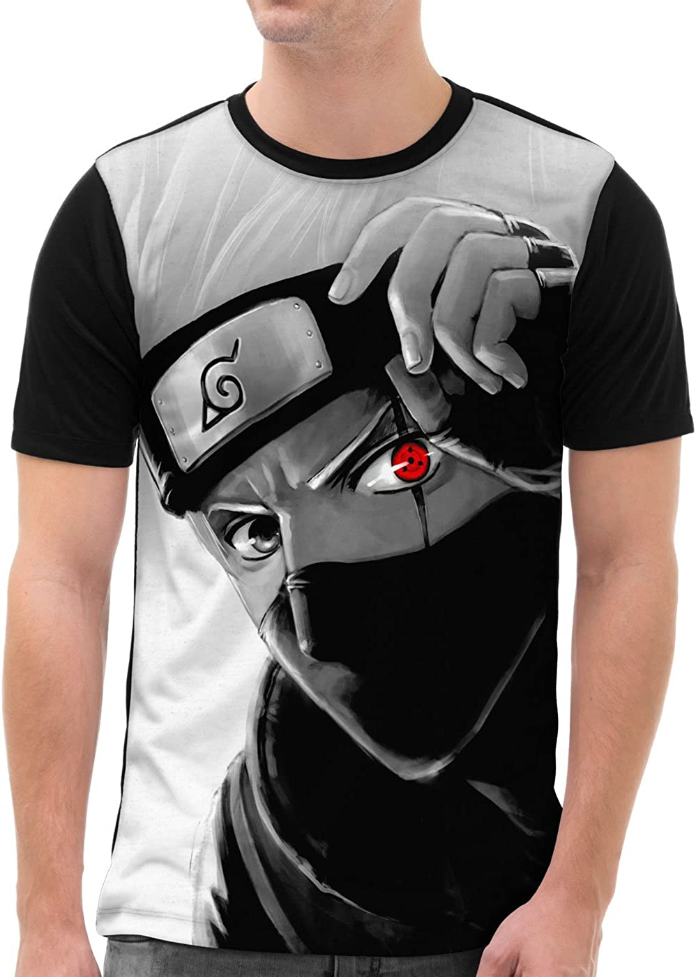 VOID Kakashi Hatake Camiseta gráfica para Hombre T-Shirt All-Over Print Ninja Anime Manga: Amazon.es: Ropa y accesorios