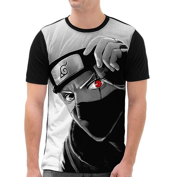 VOID Kakashi Hatake Camiseta gráfica para Hombre T-Shirt All-Over Print Ninja Anime Manga
