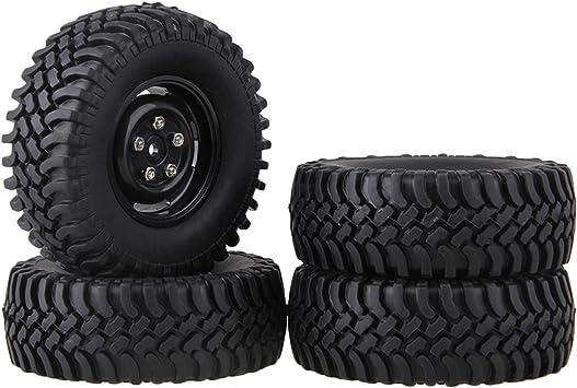mxfans negro 100 mm OD de goma neumáticos + llantas 4 ...