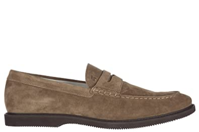 Men's Suede Loafers Moccasins Club Beige