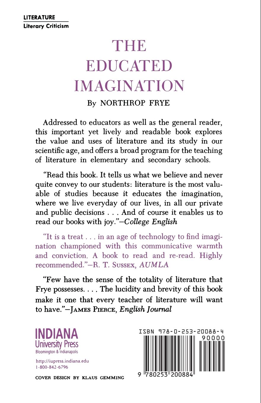 The Educated Imagination: Amazon.co.uk: Northrop Frye: 9780253200884 ...