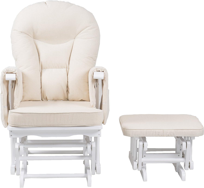 Chaise dallaitement facile /à assembler base en bois massif mouvement lisse Chatsworth Repose-pieds et repose-pied pour allaitement Bleu ardoise chaise longue