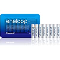 Panasonic eneloop AAA Rechargeable Ready-to-Use Ni-MH Batteries, Pack of 8. (BK-4MCCE/8LE)