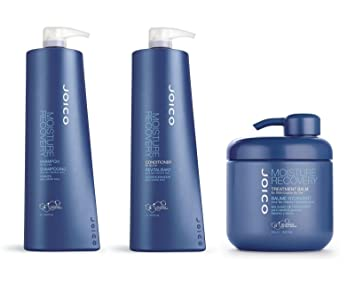 9a37280aeb8 Image Unavailable. Image not available for. Color: Joico Moisture Recovery  Shampoo 1000ml, Conditioner 1000ml, Treatment Balm 500ml ...