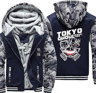 Gumstyle Tokyo Ghoul Anime Unisex Full-Zip Hoodie Jacket Coat Sweatshirt