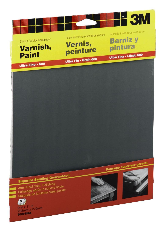 3 Pack 600 Wet-Or-Dry Sandpaper 5 Sheets per pack