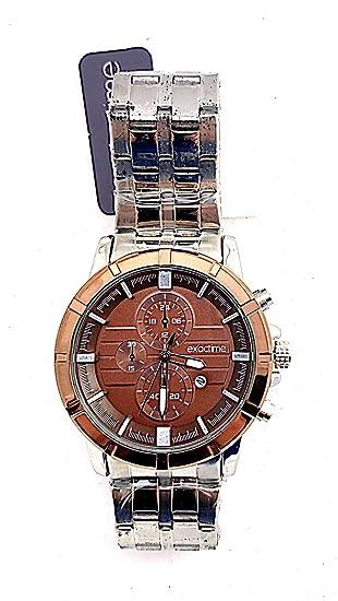 EXACTIME Reloj Hombre Acero Inoxidable Water Resistant Tres ...
