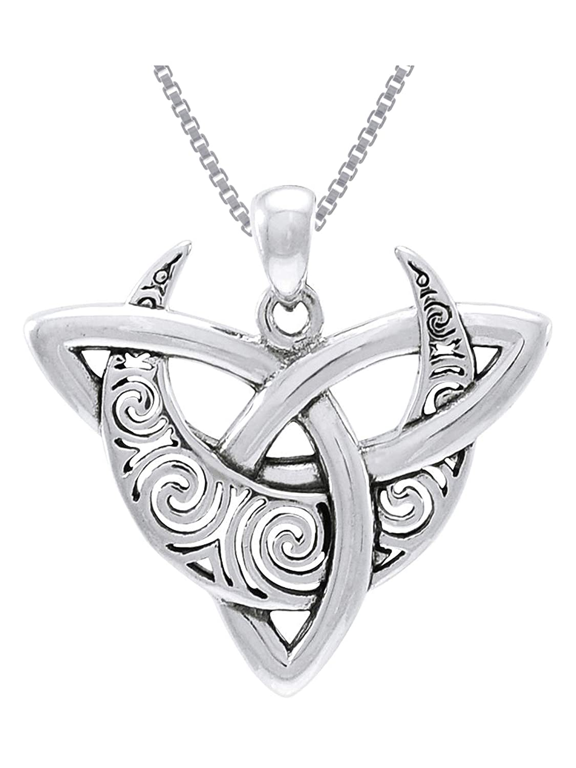 Celtic Claddagh .925 Sterling Silver Pendant by Peter Stone