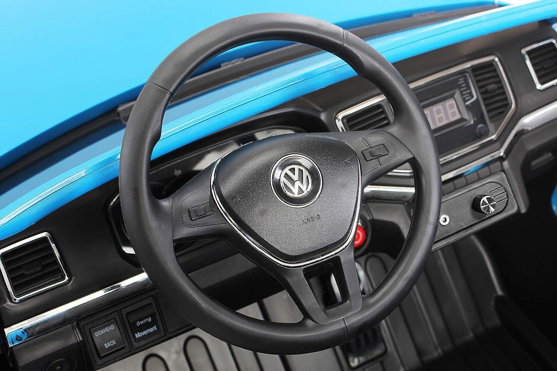 Coche ELÉCTRICO para NIÑOS NIÑOS NIÑOS Volkswagen AMAROK 12V RC (Negro) 98fe58