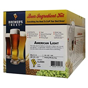 Brewer's Best - Home Brew Beer Ingredient Kit (5 Gallon), (American Light)