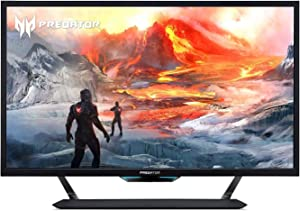 "Acer Predator CG437K Pbmiiippuzx 43"" 4K UHD NVIDIA G-SYNC Compatible Gaming Monitor with VESA Certified DisplayHDR 1000, 144Hz, 1ms VRB, (2 x Display Port, 3 x HDMI Port & 1 USB Type-C Port),Black"