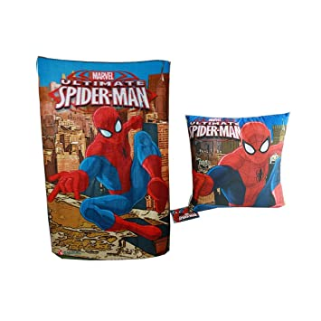 Gift set cojin 40x40 y manta polar de Spiderman: Amazon.es ...