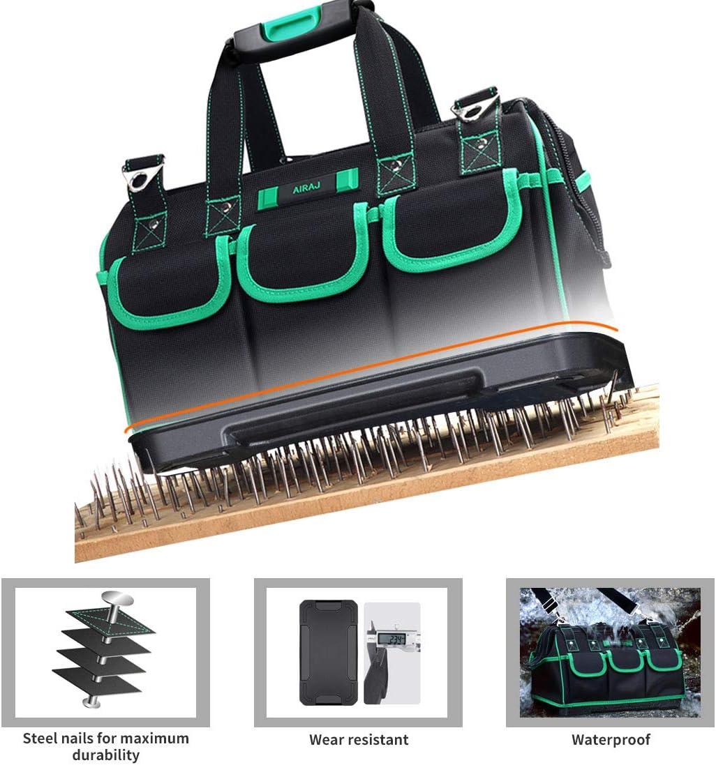 """AIRAJ13/""""multifunktionale Werkzeugtasche geeignet f/ür die t/ägliche Aufbewahrung im Haushalt wasserdichte Werkzeugtasche verstellbarer Schultergurt Holzbearbeitung Elektriker-Werkzeugtasche"""