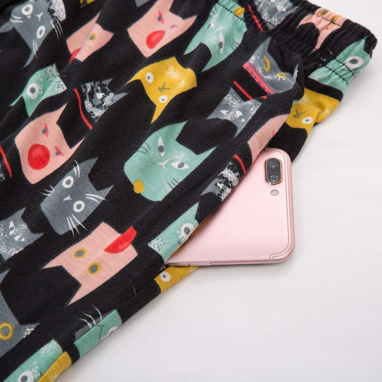 Zexxxy Schlafanzug Damen Pyjama Set Kurz Nachtw/äsche Hausanzug Kurzarm Sleepshirt Sommer