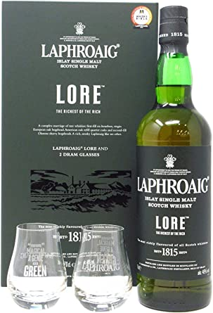 Laphroaig - Lore & Glasses Gift Pack - Whisky: Amazon.es ...