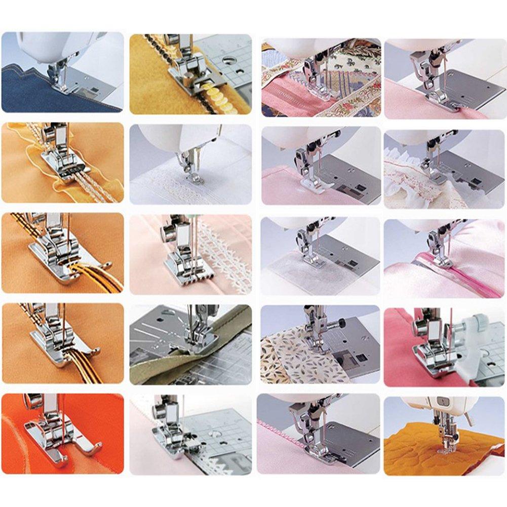 Kit 42 pies Máquina para coser perfecto accesorios Patchwork costura al prensatelas COMPATIBLES la Singer/Baby Lock/Brother/Janome/Elna/Toyota/New ...