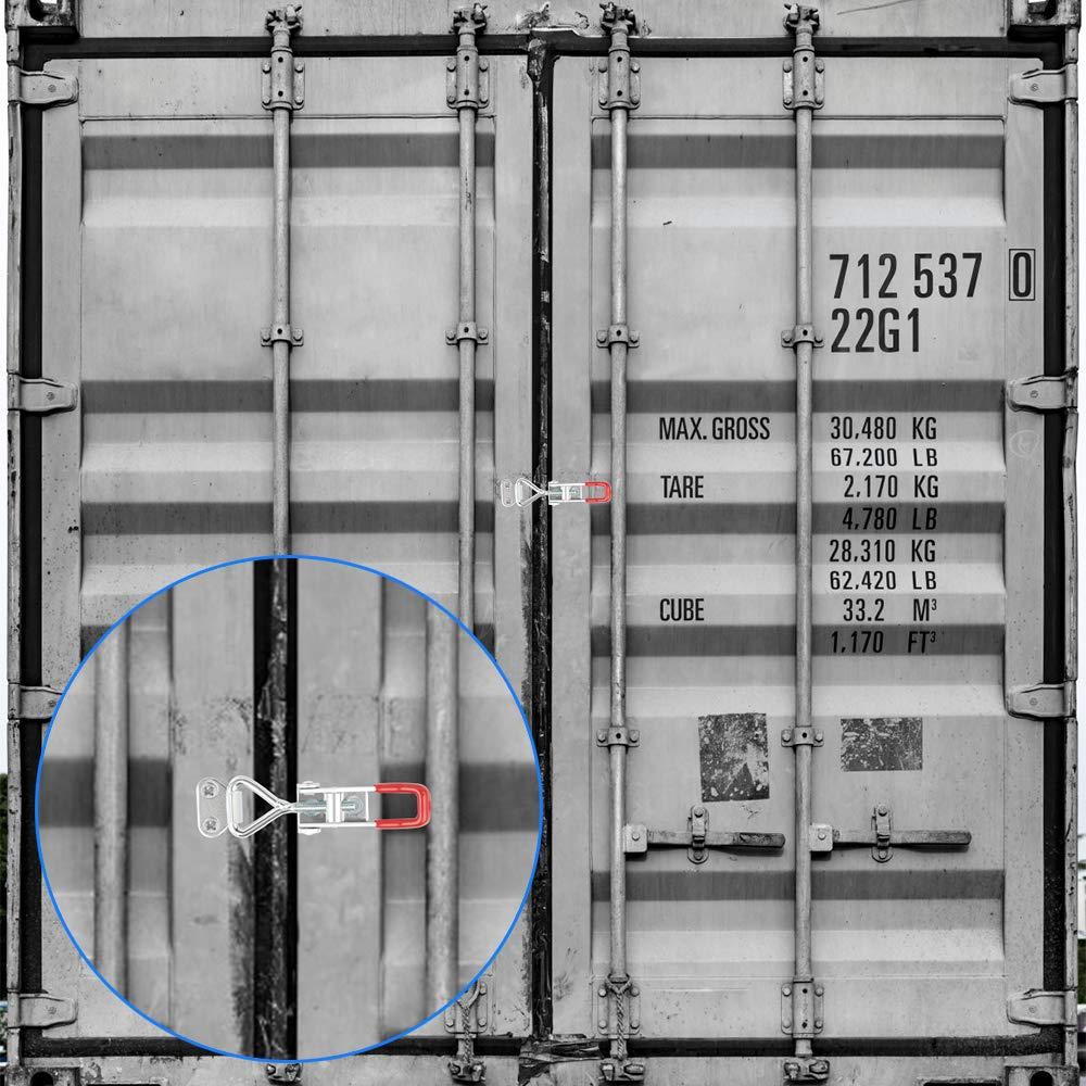 GH4001 Einstellbare Kniehebelspanner Verstellbar Kniehebelspanner Sicherheitsschnalle Halten Kapazit/ät Latch Verriegelung T/ürknopf 150KG//330LBS Dadabig 6 St/ück Metall Spannverschluss