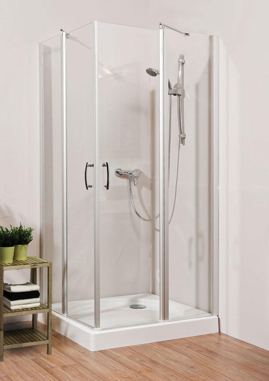 Cabina de ducha esquina ducha DUSAR Glass 5.0 Neo con colgante ...
