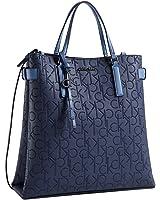 Calvin Klein sadie magazine tote bag blue stone