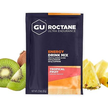 GU Energy Roctane Polvo para Deportistas con Fruta Tropical - 10 Sobres