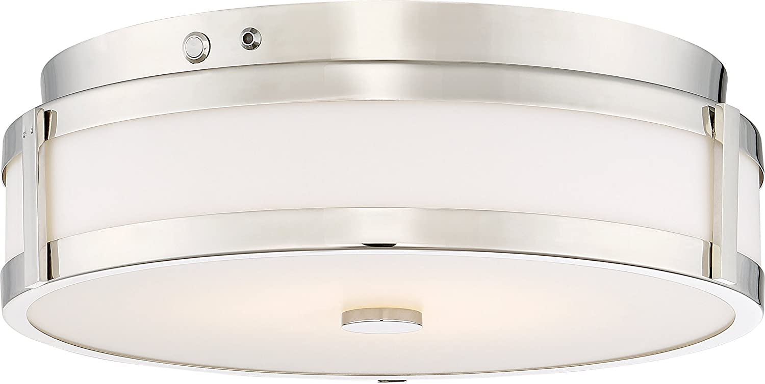 Nuvo 62-975 LED EMR Flush Polished Nickel 2 Pack