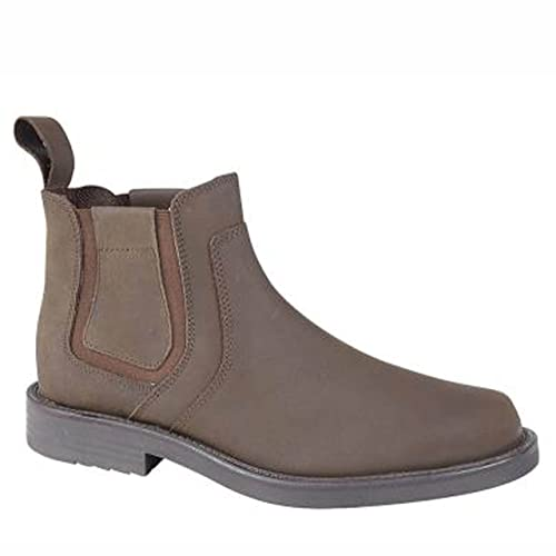 ce12c0d0a1279 Mens Roamers Crazy Horse Leather Chelsea Boots Brown size 10 UK