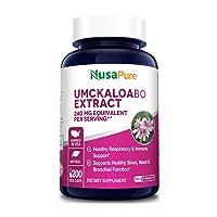 Umckaloabo Extract 240mg 200 Veggie Caps (Vegan, Non-GMO & Gluten Free) - Healthy Respiratory and Immune Support *