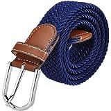 Jeracol Cinturón elástico trenzado elástico múltiples colores Los hombres y las mujeres pueden usar