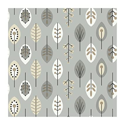 York Wallcoverings Kb8527 Bistro 750 Retro Leaves Prepasted