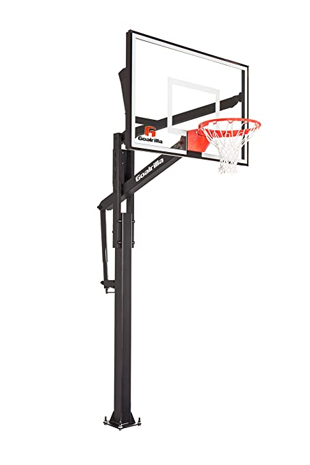 amazon com goalrilla ft54 basketball hoop with clear view tempered