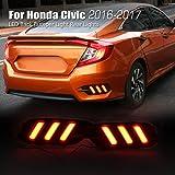 Allinoneparts Honda Civic 10th 2016 2017 LED Back Bumper Light Rear Lights Lamp Kit (not fit the Hatchback)