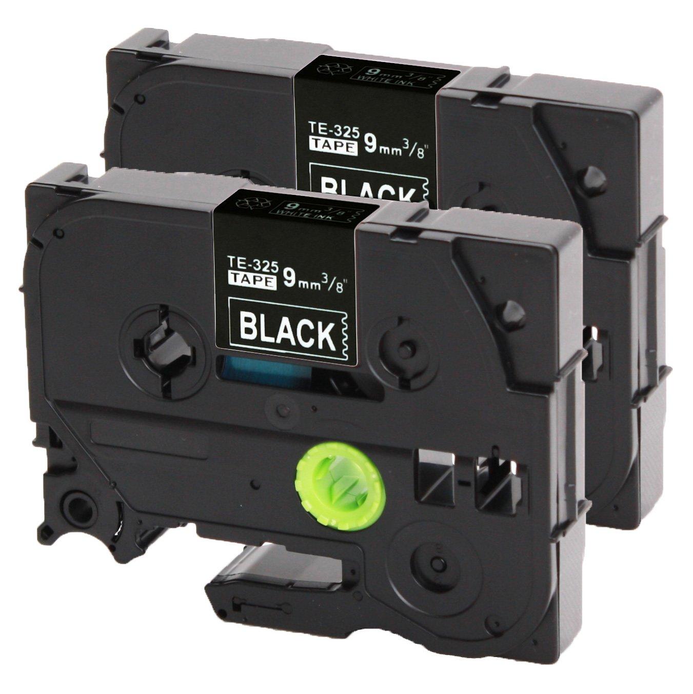 325 9 millimetri bianco su nero 9 millimetri di larghezza x lunghezza 8m compatibile con TZ330 3x Nastro Tape Cassette per Brother TZe