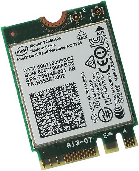 Intel Dual band Wireless AC 7265 7265NGW 802,11 AC 2 x 2 WiFi ...