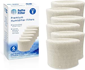 Fette Filter - Humidifier Wicking Filters Compatible with Honeywell HC-14V1, HC-14, HC-14N. Filter E. (Pack of 6)
