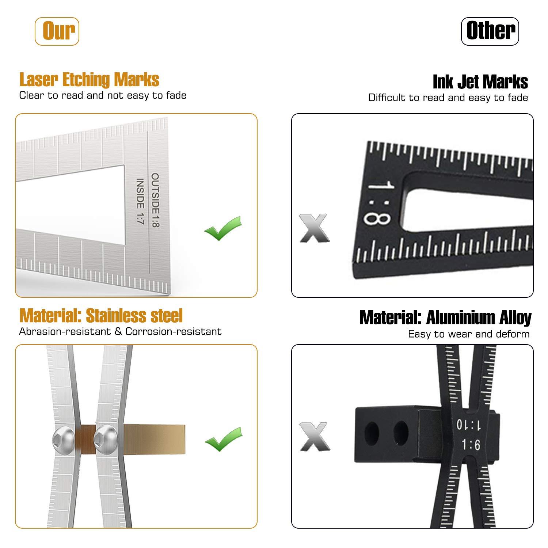 Affordable Durable Utility Black Handy Dovetail Marker Gauge Marked